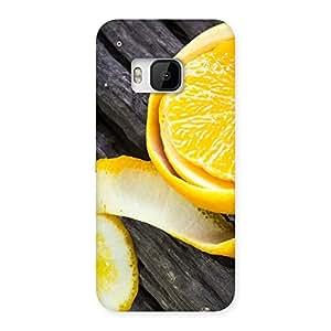 Impressive Orange Peal Blackish Back Case Cover for HTC One M9