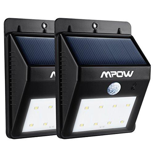 Mpow Solar Powerd Wireless LED Security Motion Sensor Light, Outdoor Wall/garden Lamp...