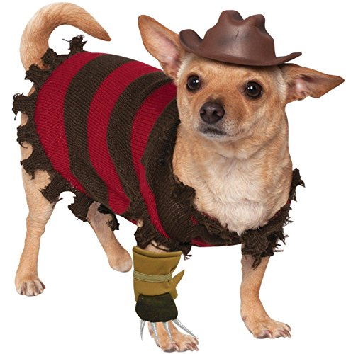 A Nightmare on Elm Street Freddy Krueger Pet Costume, Small Includes sweater, hat, and glove