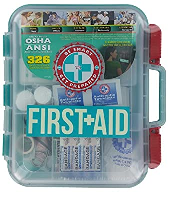 Tactical First Aid Kit: First Aid Kit Hard Teal Case 326 Pieces Exceeds OSHA and ANSI Guidelines from Be Smart Get Prepared