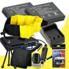 Two LI-50B Lithium Ion Replacement Battery w/Charger + Memory Card Reader/Wallet + Deluxe Starter Kit + Waterproof Floating Strap for Olympus Stylus Tough TG-610, Tough TG-810, Tough 6000, Tough 6020, Tough 8000, Tough 8010 DavisMAX Accessory Bundle