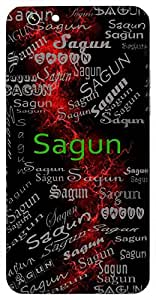Sagun (Possessor Of Good Qualities; Auspicious) Name & Sign Printed All over customize & Personalized!! Protective back cover for your Smart Phone : Samsung Galaxy A-3