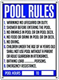 Poolmaster 40326 General Commercial Pool Rules Sign for Residential or Commercial Pools