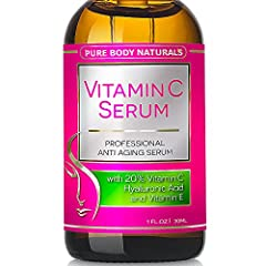 Here's What Amazon Customers Are Saying About Pure Body Naturals Vitamin C Serum  - Wonderful product!! Love the way my face looks & feels after using it. My facial lines seem to be reduced since I started using this product   - Great product..the s...