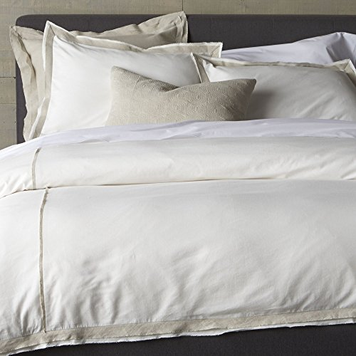 Crate And Barrel Bianca Full-Queen Duvet Cover front-13586