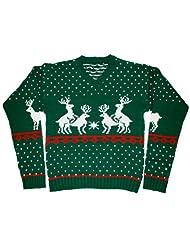 Ugly Christmas Sweater Reindeer Skedouche