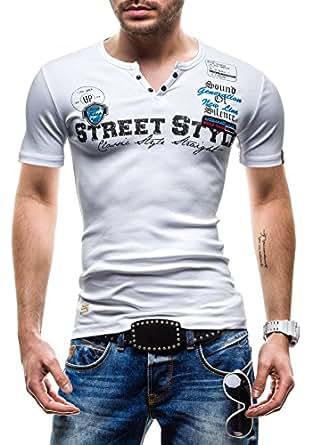 BOLF - T-Shirt à manches courtes - COMEOR 2104 - Homme - XXL Blanc [3C3]