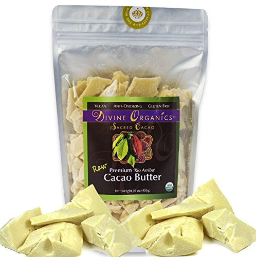 Divine-Organics-16oz-Raw-Cacao-Butter-Cocoa-Butter-Certified-Organic-Food-Grade-Edible-Fragrant-Natural-Skin-Moisturizer