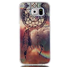 buy Galaxy S6 Case, Easytop Premium Slim Fit Flexible Ultra Slim Tpu Soft Rubber Cover Case,Protective Skin Case Fashion Style Colorful Painted Back Cover Protector Skin (Windbell)