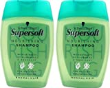 2x Schwarzkopf Supersoft Nourishing Shampoo (With Extracts Of Aloe Vera & Rosemary)