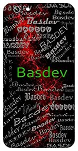 Basdev (Fire) Name & Sign Printed All over customize & Personalized!! Protective back cover for your Smart Phone : Moto G2 ( 2nd Gen )
