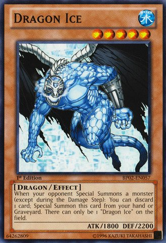 Yu-Gi-Oh! - Dragon Ice (BP02-EN057) - Battle Pack 2: War of the Giants - 1st Edition - Common (Yugioh Ice Dragon compare prices)