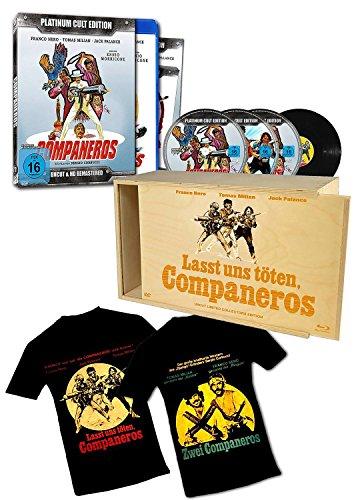 Companeros - Sonderedition in Holzbox - limitierte Auflage von 500 Stück!! (4er-Disc Edition: Blu-Ray + 2 DVDs + Audio-CD + T-Shirt beidseitig bedruckt) [Limited Edition]