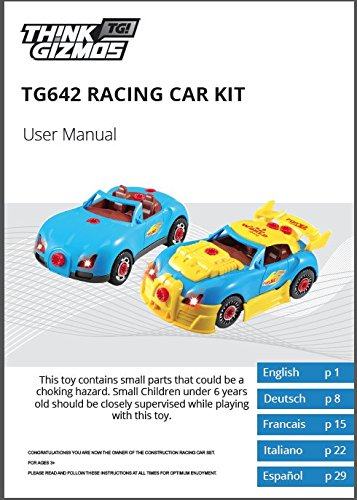Construction-Toy-Racing-Car-Kit-For-Kids-Build-Your-Own-Car-Kit-Version-2-30-Take-Apart-Pieces-With-Realistic-Sounds-Lights-By-ThinkGizmos-Trademark-Protected