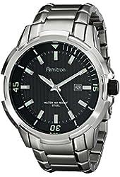Armitron Men's 20/5013BKSV Date Function Black Dial Silver-Tone Bracelet Watch