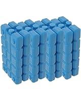 ToCi Haushalt - Set da 8 mattonelle del ghiaccio, 200 g, colore blu
