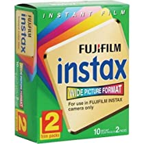Fuji Wide Instant Color Film Instax for 200/210 Cameras - 4 Twin Packs - 80 Prints