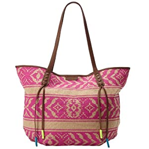 Billabong More Please Large Tote Shoulder Bag,Fiesta Fuschia,One Size