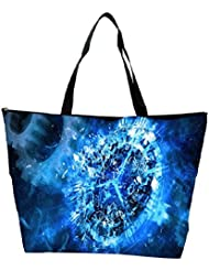 Snoogg Blue Clock Abstract Designer Waterproof Bag Made Of High Strength Nylon