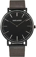 Comprar Alienwork Classic St.Mawes Reloj cuarzo elegante cuarzo moda diseño atemporal clásico Metal plata negro U04916G-03