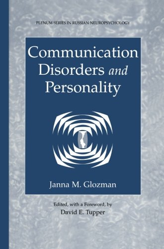 Communication Disorders And Personality (Plenum Series In Russian Neuropsychology) front-747881