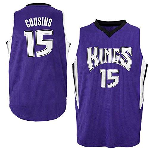 Mens DeMarcus Cousins #15 Sacramento Kings Purple Swingman Basketball Jersey