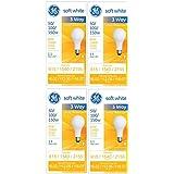 GE Lighting 50/100/150-Watt, 3-Way Light Bulb, Soft White, 4-Pack