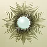 Global Views Nickel Sunburst Mirror