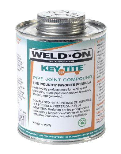 weld-on-10064-green-tite-505-key-metal-pipe-threas-sealant-with-brush-in-cap-applicator-1-pint-can