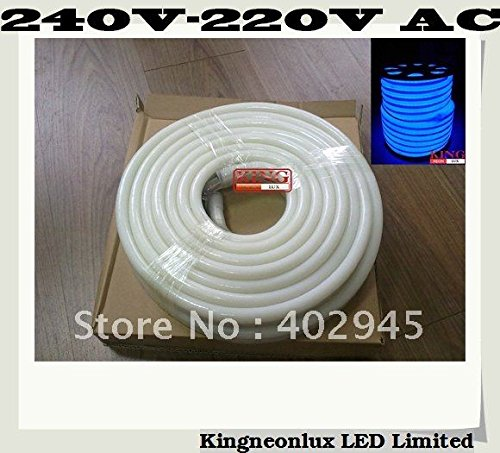 Led Neon Flex Blue Color 10M/Roll Led Soft Neon Light Led Flexible Neon Strip Led Neon Rope Lights 240V 220V 80Pcs/M