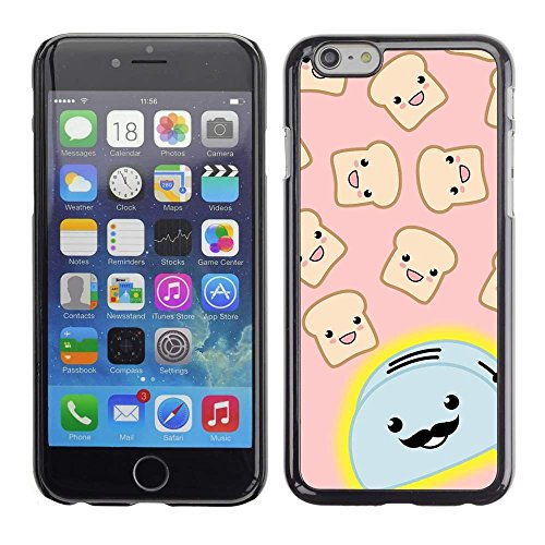 GREAT PHONE CASE GIFT // Mobile Phone Case Hard Case PC Derecative Cover Shell for Apple Iphone 6 Plus 5.5 /Toaster Cartoon Handlebar Happy Toast/ (Toaster Pc compare prices)