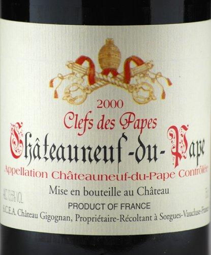 """2000 Château Gigonan Chateauneuf-Du-Pape """"Clefs Des Papes"""" Red"""