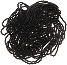 Beadaholique 1-Hank Czech Seed Beads Size 110 Jet Black Opaque