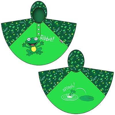 Bugzz Kids Stuff Rain Ponchos (Frog Raincoat)