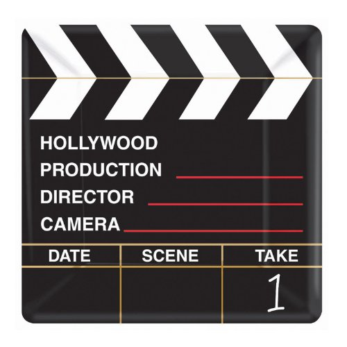 Hollywood 'Director's Cut' Small Square Paper Plates (8ct) - 1