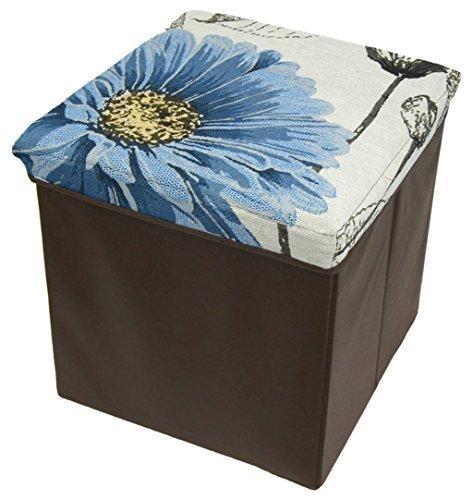 ashley-mills-blue-daisy-design-tapestry-ottoman-storage-box