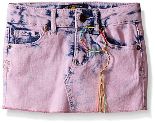 Lucky Brand Big Girls Sophia Mini Skirt, Pink Nectar, 12