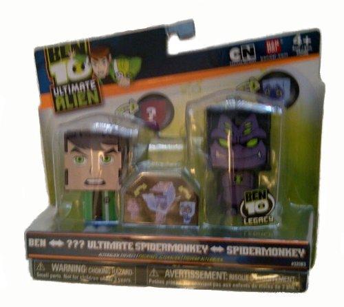 Buy Low Price Bandai Ben 10 Ultimate Alien AlterAlien 2.5 Inch Transforming Figures Ben to Water Hazard Spidermonkey to Ultimate Spidermonkey (B004LD9QD4)