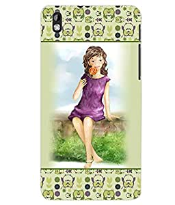 ColourCraft Girly Back Case Cover for HTC DESIRE 816