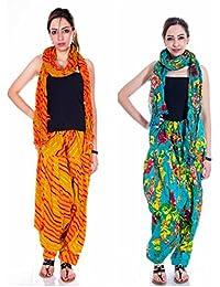 Om Prints Multi Colour Women's Patiala And Dupatta Set Of 2 ( Free Size)