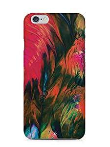 For Apple iPhone 6, iPhone 6S Oil Banks Abstract Paint Red Black Blue - Designer Printed High Quality Smooth Matte Protective Mobile Case Back Pouch Cover by Creative Cases
