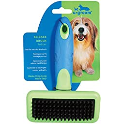 ugroom  Slicker Brushes with Rubber Pins  -  Ergonomic Slicker Brushes for Dog Grooming - Large, 63/4\