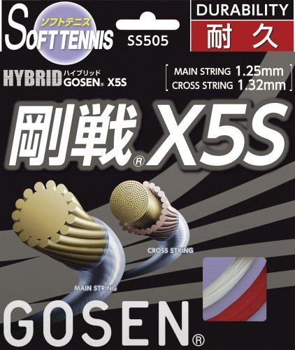 Schriftsteller (GOSEN) Hybrid starre Runde X5S (für Tennis) rot SS505-RE
