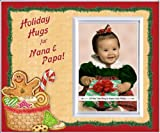 Holiday Hugs for Nana & Papa - Christmas Picture Frame