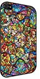 Disney All Characters Stained Glass Iphone 4and 4s Rubber Case Black
