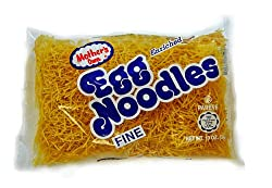 MOTHER'S Fine Egg Noodles, 10-Ounce Bags (Pack of 12)