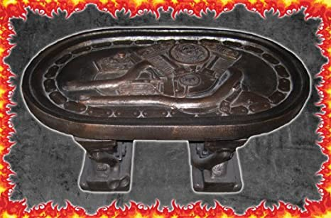Bronze Style Coffee Table V-Twin Cast Stone 'Man Cave Collection' Made in USA