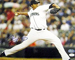 Felix Hernandez Autographed Hand Signed 11x14 Photo (Seattle Mariners) JSA by Hall of Fame Memorabilia