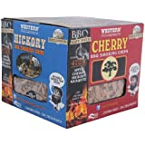 WESTERN 80484 BBQ Smoking Chip Variety Pack (4 bags): Hickory, Cherry, Apple and Mesquite Wood Flavors. Includes Metal Reusable Smoker Tray and Instructional DVD (Discontinued by Manufacturer)