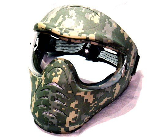 Hakkotsu full face airsoft mask low fog ACU H1-3